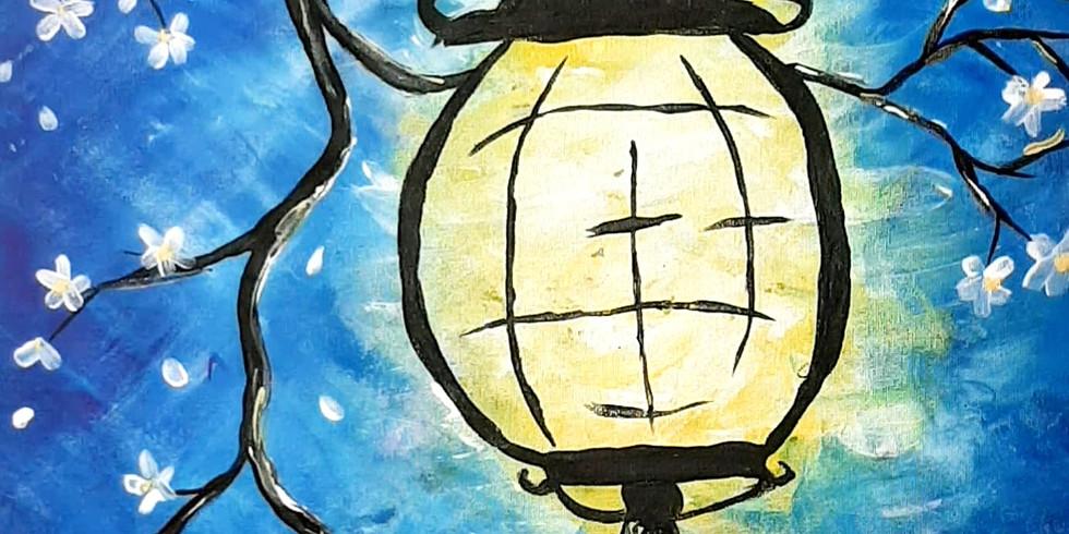 VIRTUAL CLASS - Sip 'n' learn to paint 'Lantern'