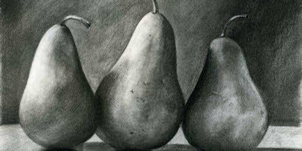 Charcoal & Chill Class - Fruit Still Life