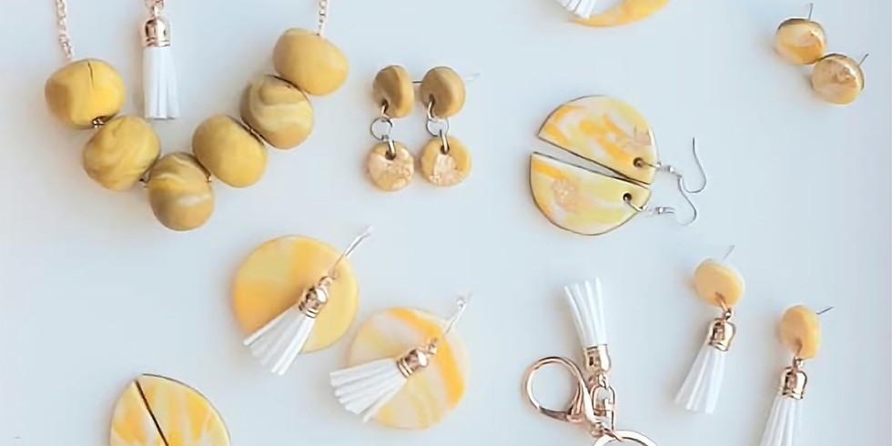 KARALEE - CHAPTERS - Polymer Clay Slab Class - Make beads, earrings, a key chain and more (3)