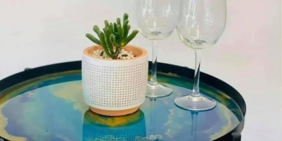 TOOWOOMBA - Learn to sip and resin with us - Resin Top Side Table