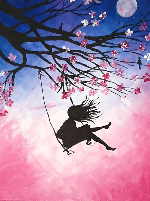 Learn to paint 'Spring Swing' Tutorial Only