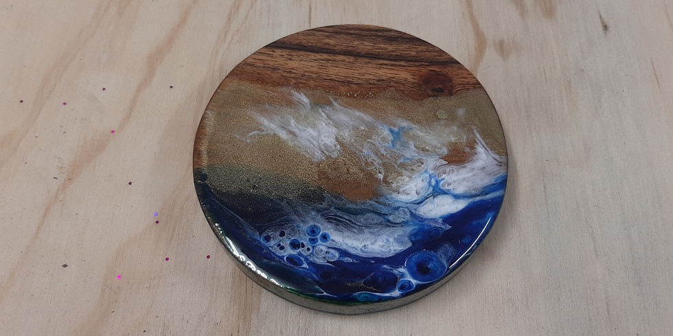 ORION - Learn to pour a resin coasters