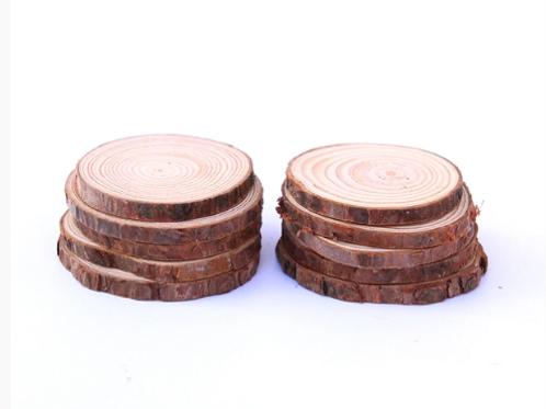 100pcs x Wooden Log Slice Round Discs 5CM DIY Embellishments