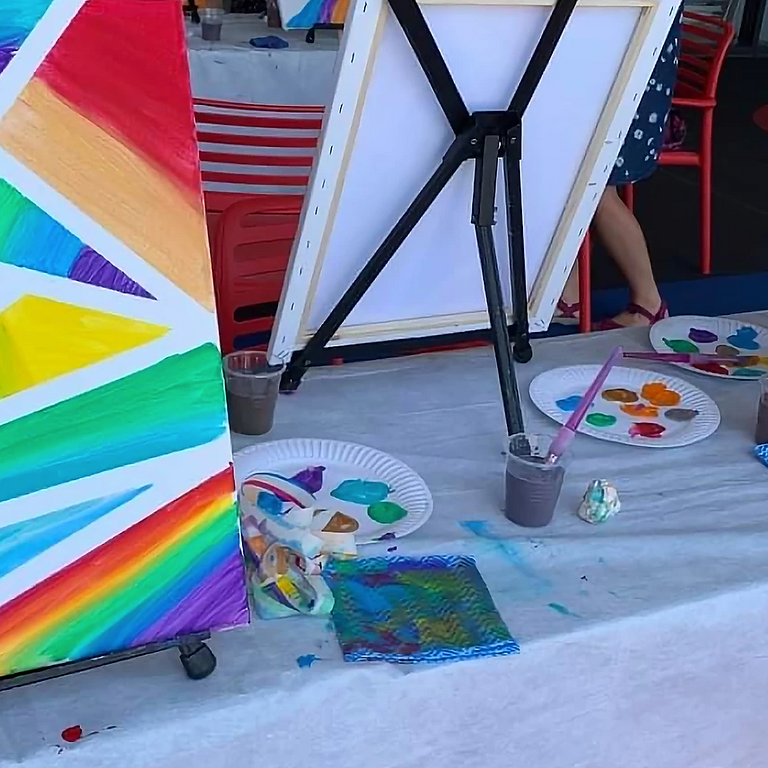 BALD HILLS - LA ZUCCA - Kids School Holidays Workshop ' Tape and Paint'