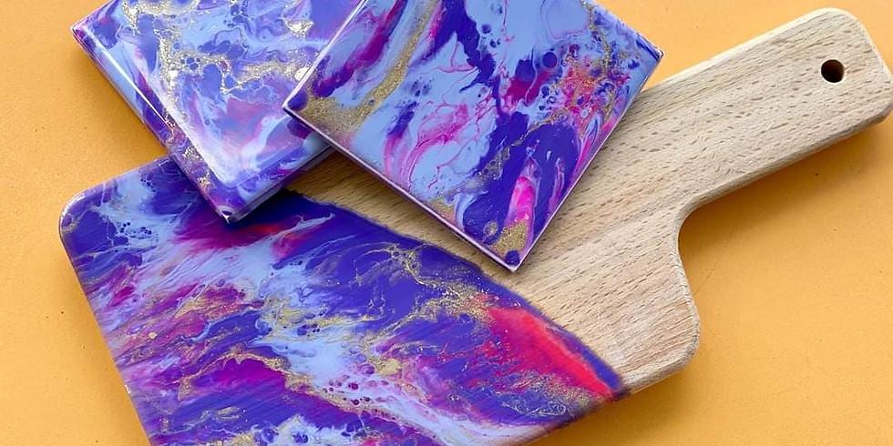 LOGANHOLME - Learn to mini resinsnack board and coasters!