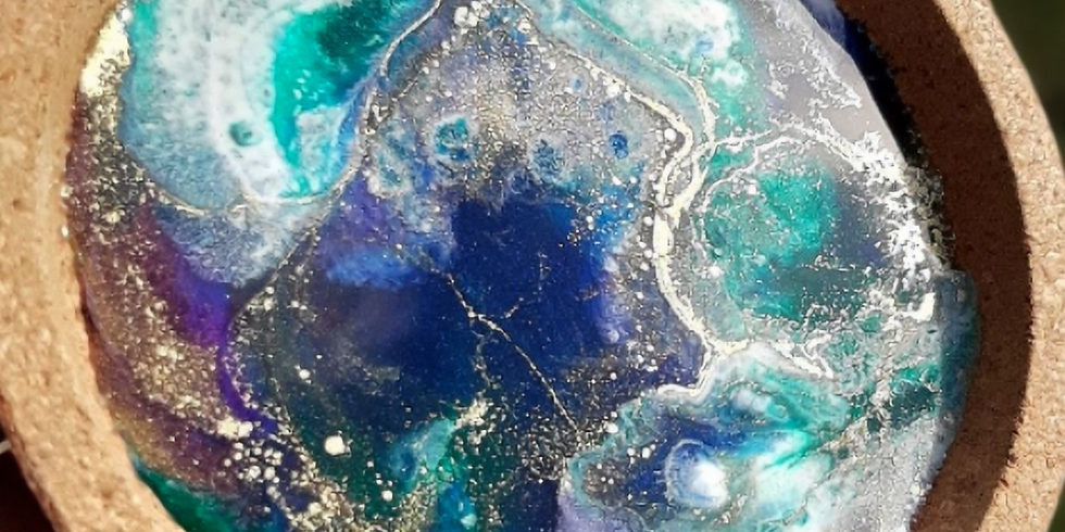 STUDIO - Learn to pour make resin coasters