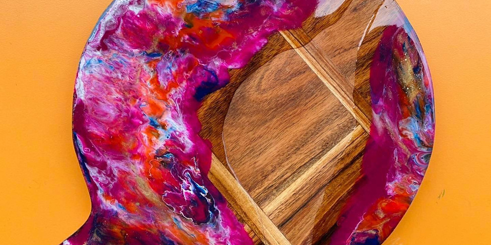 GOODNA - STUDIO - Learn to make a resin cheeseboard (you choose your colours!)