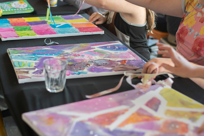 Kids Tape & Paint Class - Kids Meal + Drink + Art Class