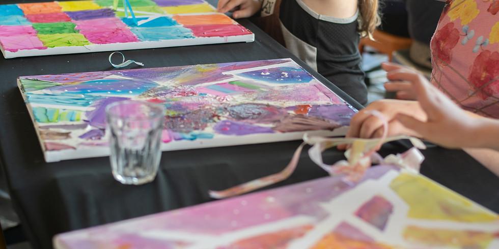 School Holidays Art - Kids Meal + Shake + Art Class
