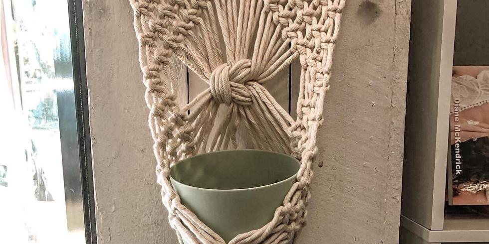 GOONDA - STUDIO - Macrame large pot hanger!