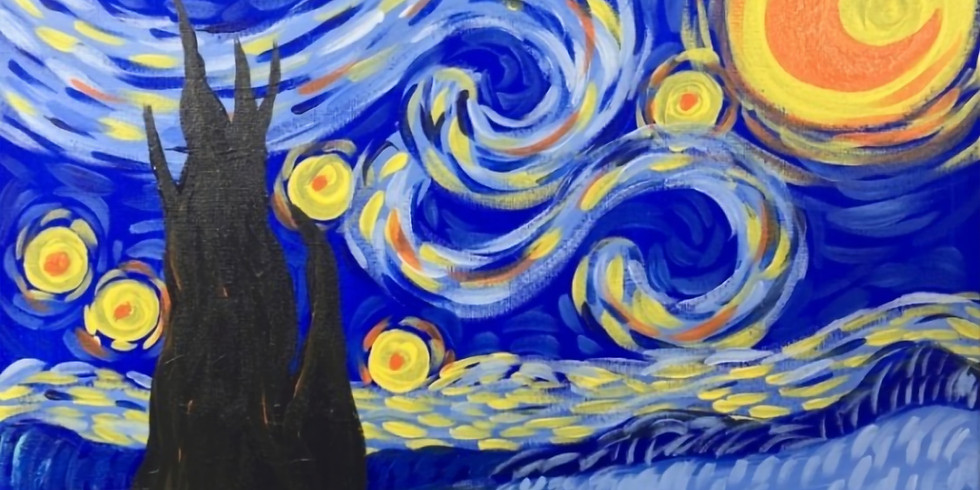 ORION - Learn to paint Starry Night in acrylics