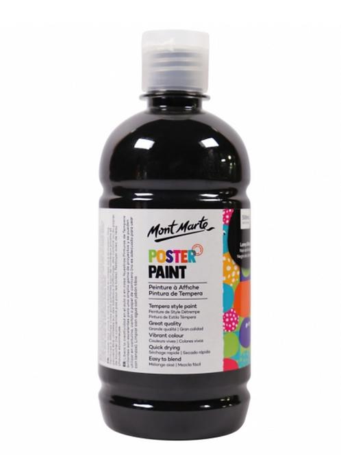 Poster Paint 500ml - Black