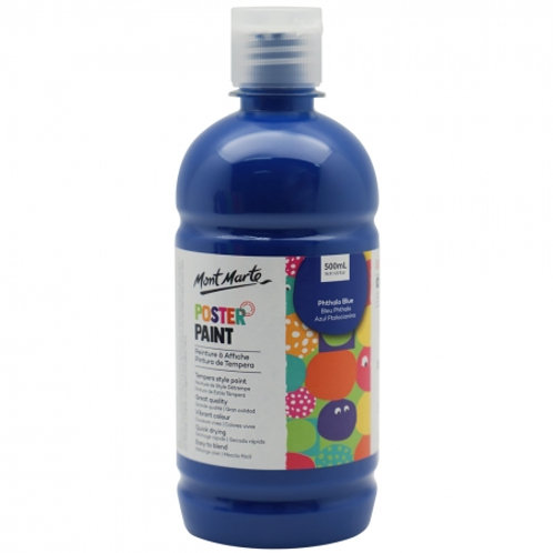 MM Poster Paint 500ml - Phthalo Blue (6 pack)