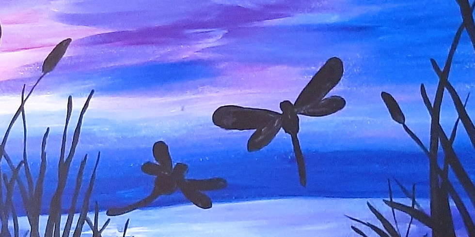 VIRTUAL CLASS - Sip 'n' learn to paint 'Lakeside'