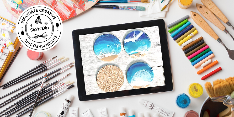 STUDIO - Grab a glass of wine and learn to pour resin coasters