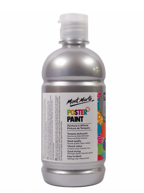 Poster Paint 500ml - Silver