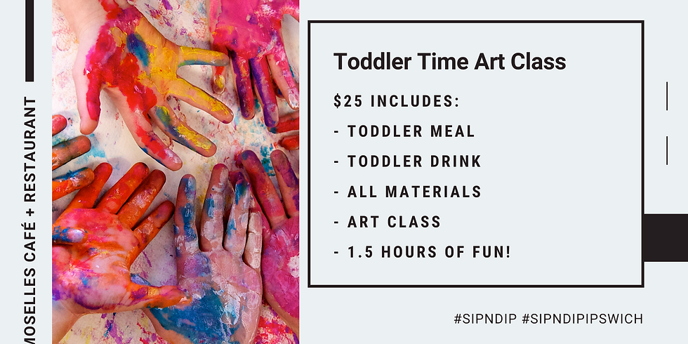 Toddler Time Art Class @ Moselles