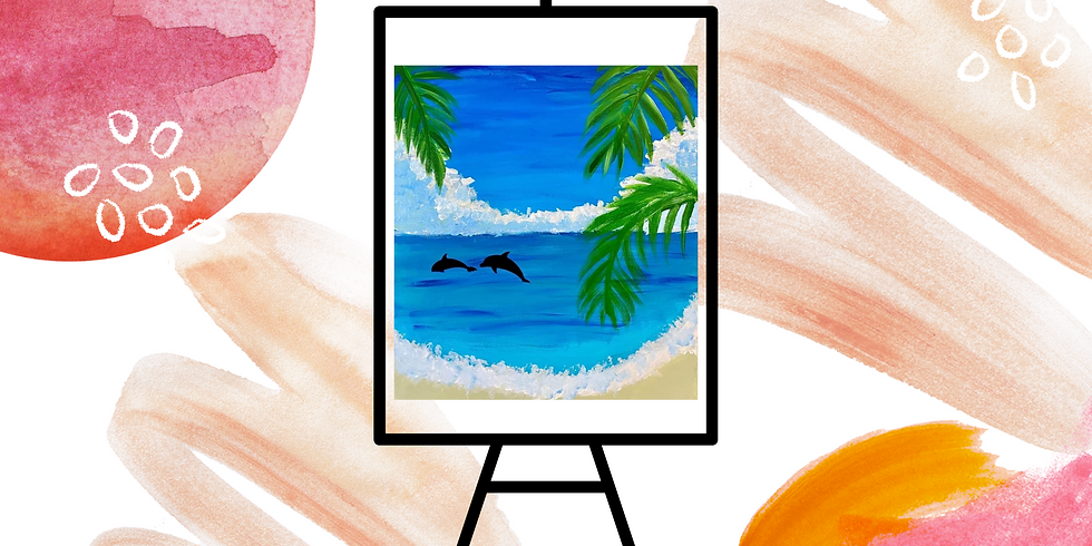 STUDIO - Community Learn to Paint - Learn to paint 'Dolphins'