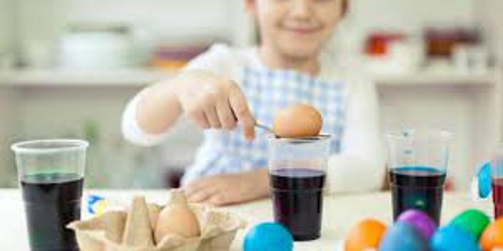 PROCEEDING - SCHOOL HOLIDAYS - STUDIO -  Learn to make 3 Dyed Decorative Eggs