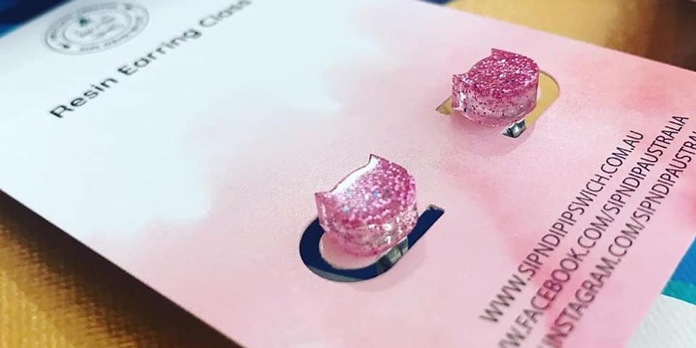 Market Day - Goodna - Sampler Class - Resin Earrings (make x4 sets of earrings)
