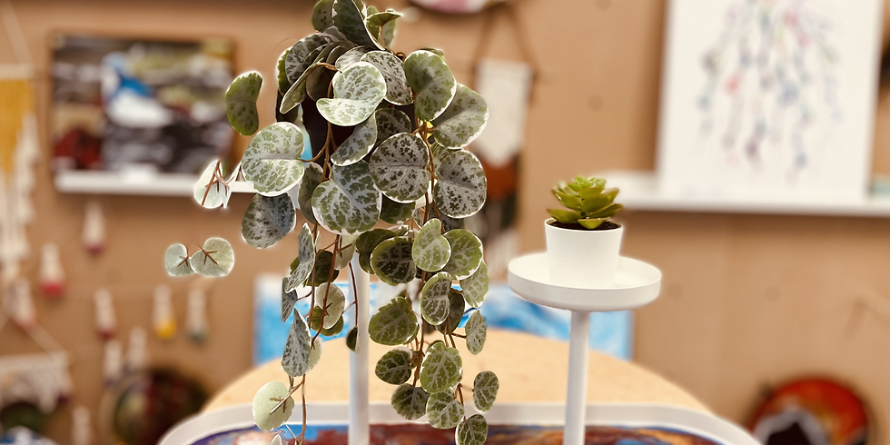 STUDIO - GOODNA - Learn to create 1 x resin dual plant stand