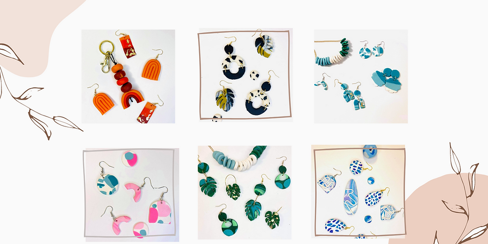 STUDIO - Learn to make polymer clay jewellery & hair clips