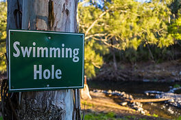 Take a dip in the swimming hole
