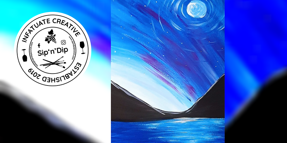 REDBANK PLAINS - Arizona Cafe - Grab a glass of wine and learn to paint 'Northern Lights'