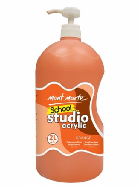 Acrylic 2L Pump - Orange