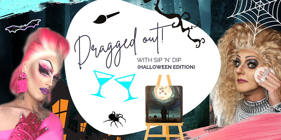 """SPRINGFIELD - ORION - 'DRAGGED OUT' Spookytails and paint with Drag Queens 'Electra DQ and Crystal Heart"""""""