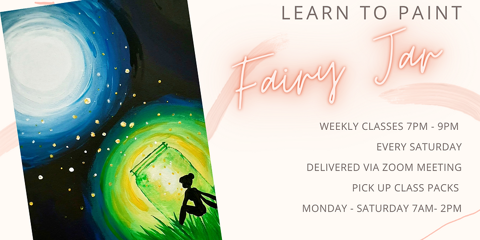 "ONLINE - Sip 'n' Paint ""Learn to paint Fairy Jar'"