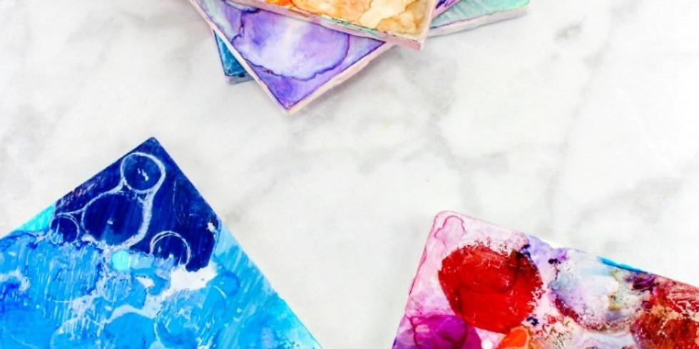 TSNC - Kids Art Learn to make alcahol ink art