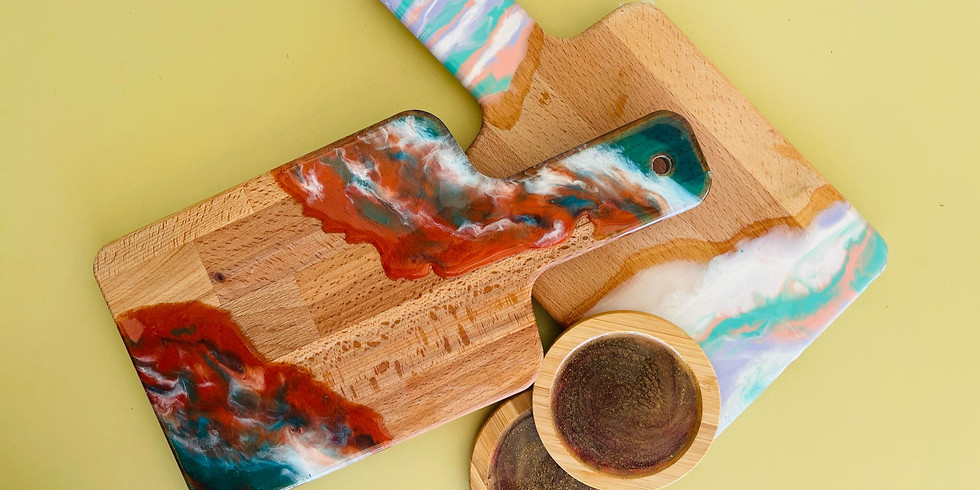 SIP 'N' DIP - Learn to make your own resin cheeseboard + Coasters