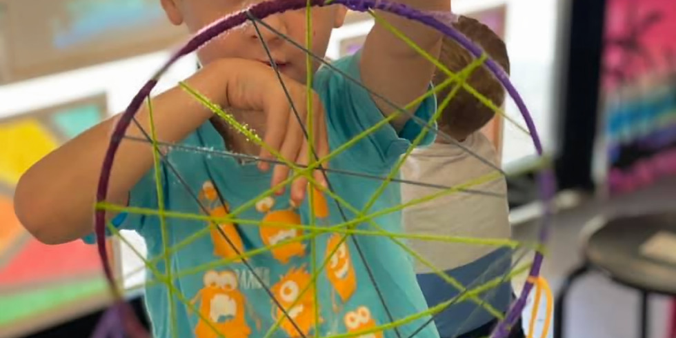 Learn to paint class - Kids Abstract Dream Catcher Class