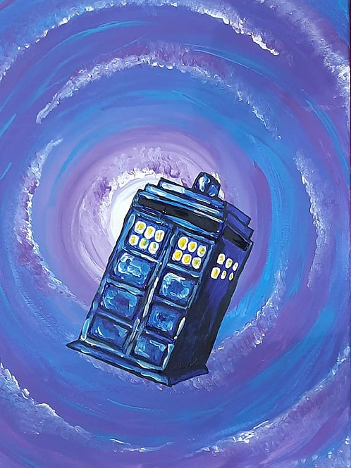 Learn to paint Tardis 'Paint at home Pack'
