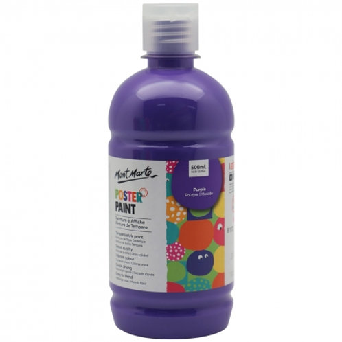 MM Poster Paint 500ml - Purple (6 Pack)
