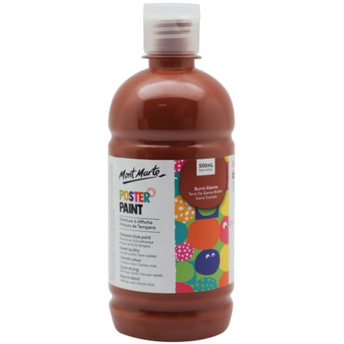 MM Poster Paint 500ml - Burnt Sienna (6 pack)
