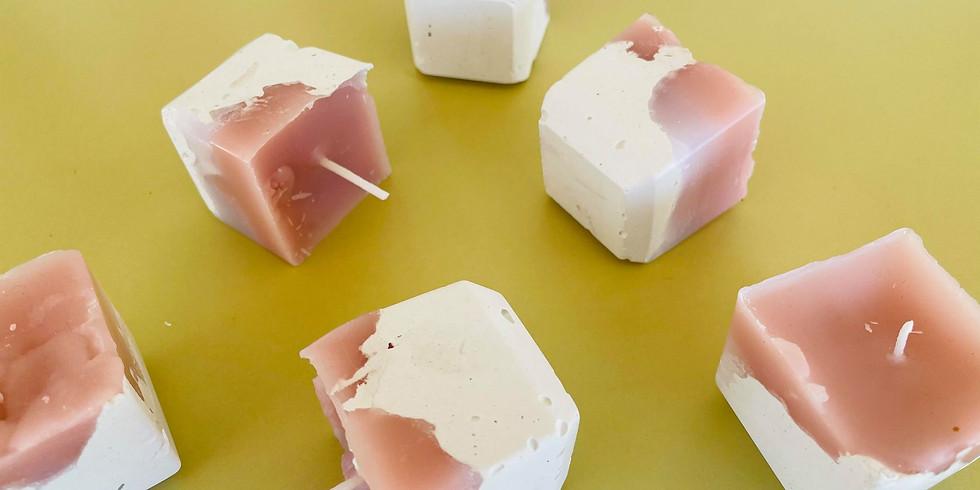 SIP 'N' DIP - Learn to make 12 industrial cement look candles