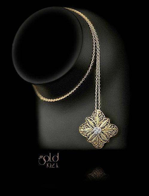 Colar Ouro Diamantes