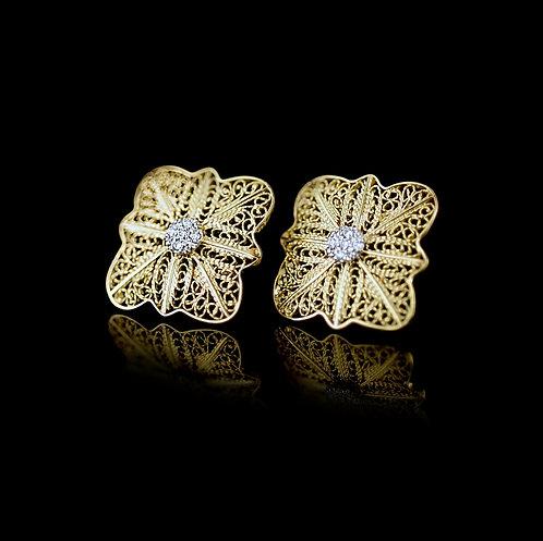 Brincos Ouro Diamantes