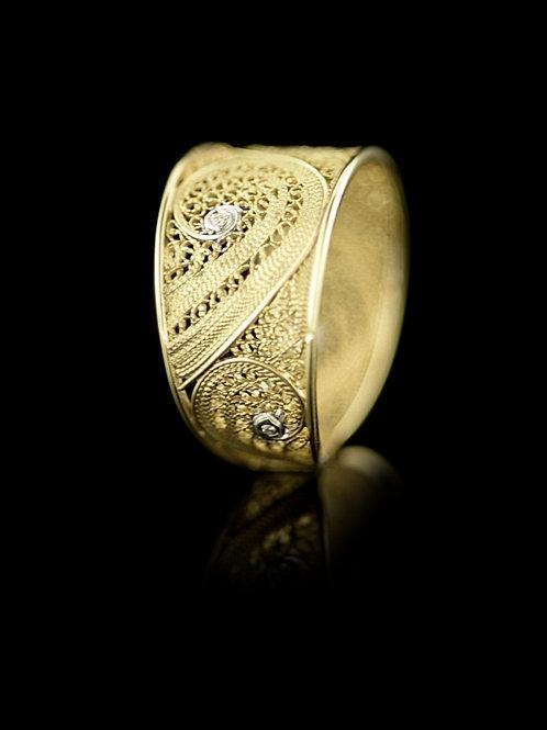 Anel Ouro Diamantes