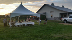 Wedding reception at the winery!