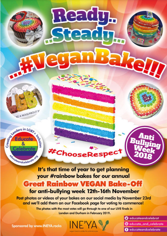 School VEGAN Rainbow Bake Off