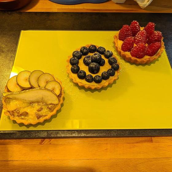 vegan fruit custard tarts