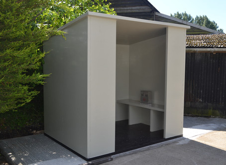 Our new twin walled material has many uses smoking hut.