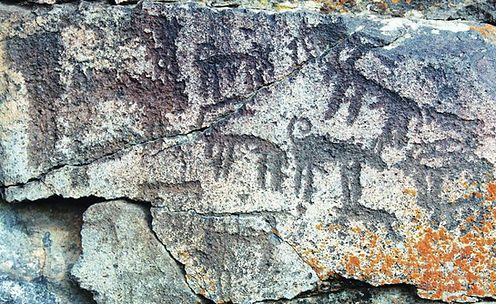 Ancient rock carvings of Armenian Gamps