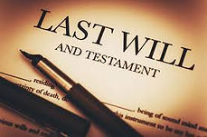 "Text on a page ""Last Will and Testament"""
