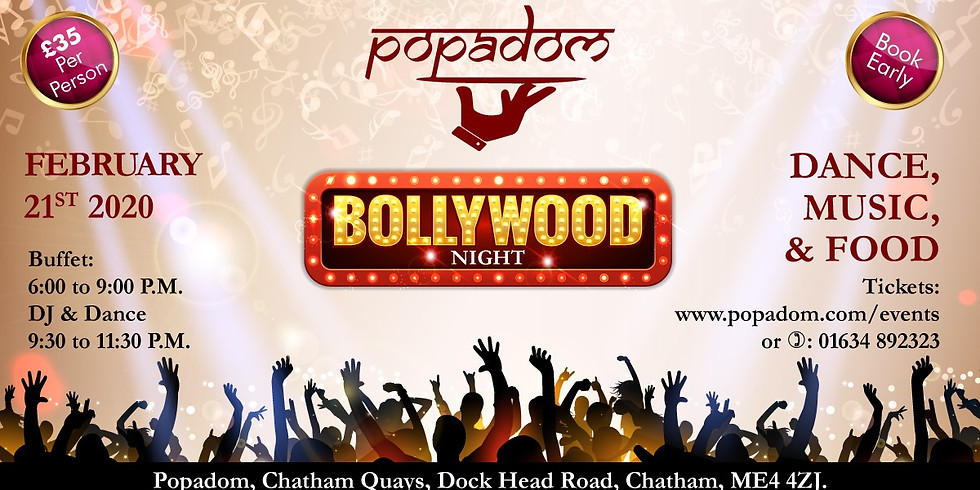 Bollywood Night 21st February 2020