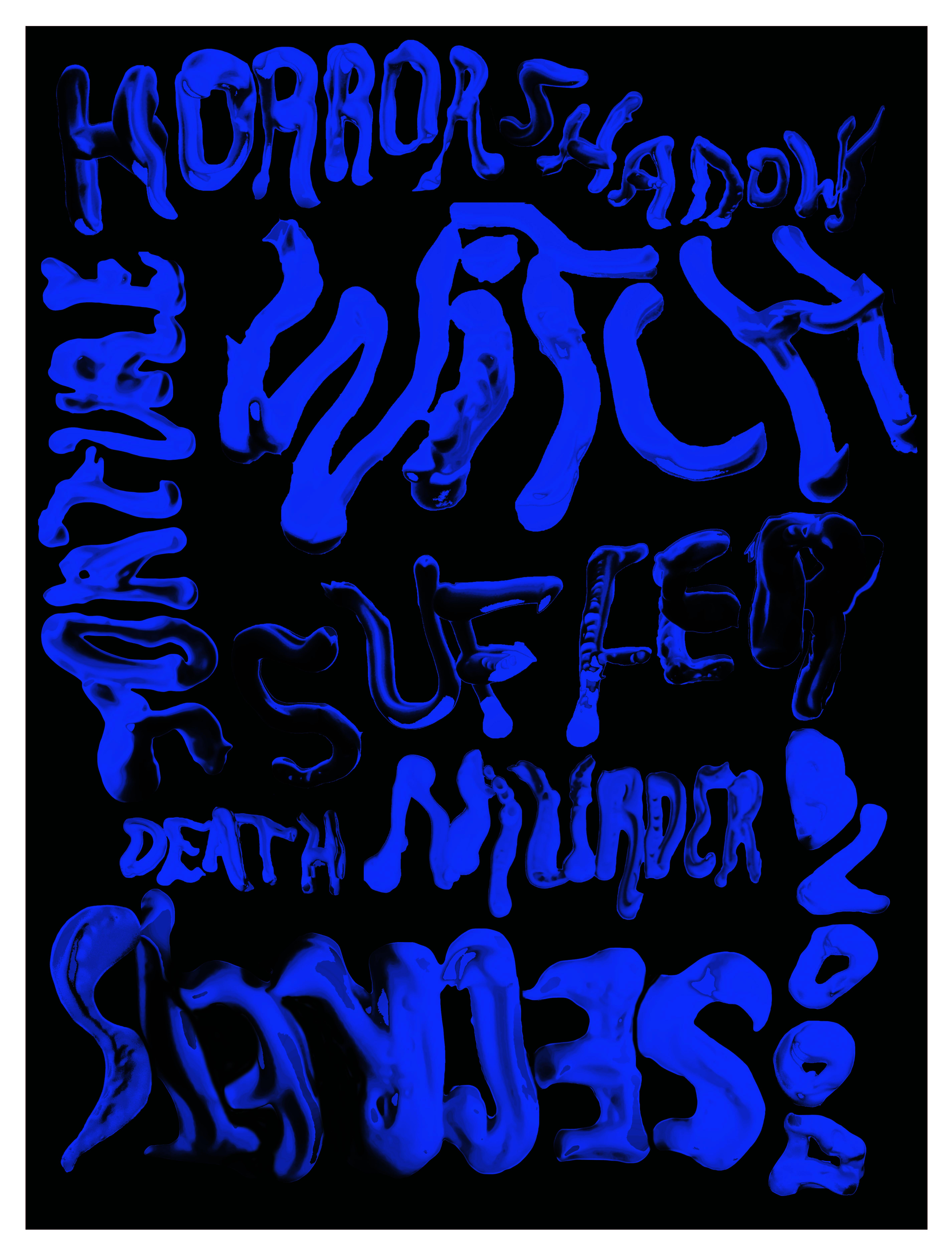 Suspiria Typographic Film Poster