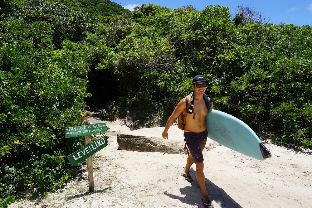 surf hiking and adventures in Florianopolis brazil as a digital nomad